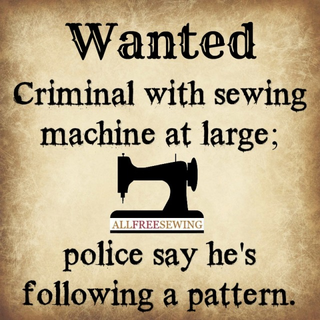 wanted criminal sewing machine