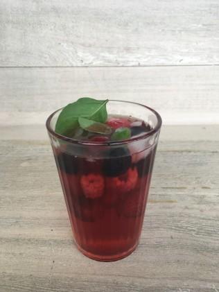 glas rode vruchten